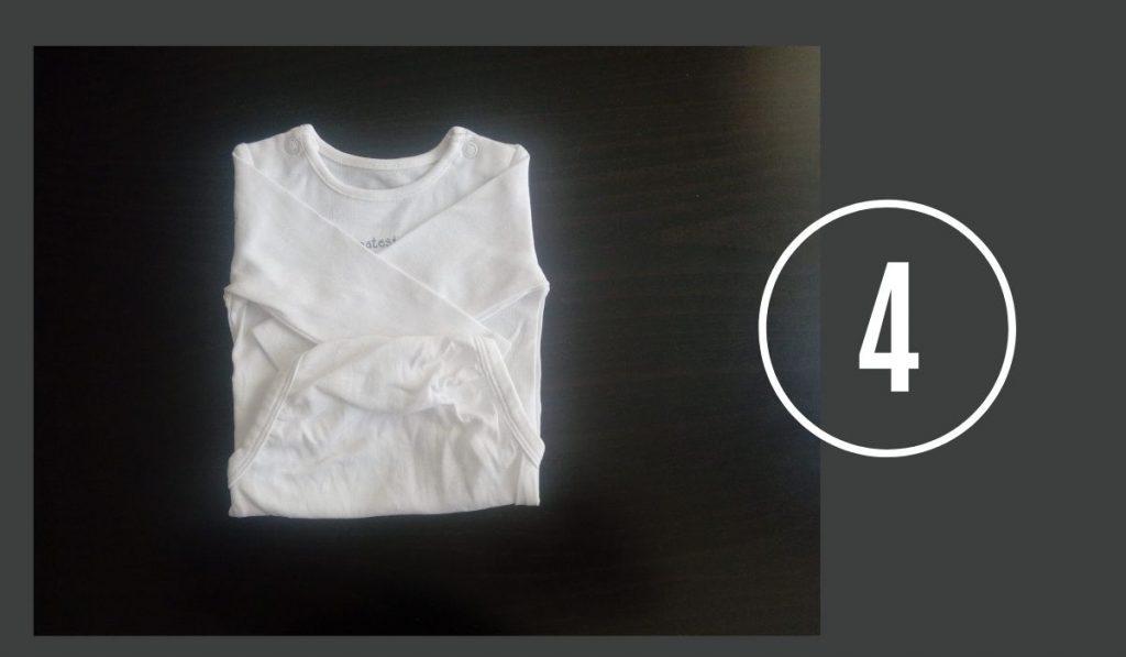 baby bodies einfach und schnell falten - vierter schritt